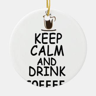 Ornamento De Cerâmica design do café
