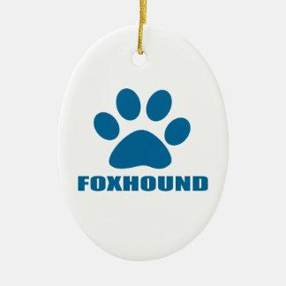 ORNAMENTO DE CERÂMICA DESIGN DO CÃO DO FOXHOUND
