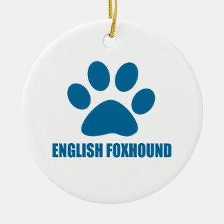 ORNAMENTO DE CERÂMICA DESIGN DO CÃO DO FOXHOUND INGLÊS