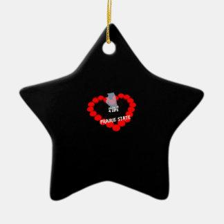Ornamento De Cerâmica Design do coração da vela para o estado de