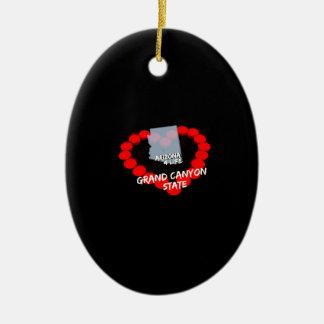 Ornamento De Cerâmica Design do coração da vela para o estado de arizona