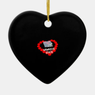 Ornamento De Cerâmica Design do coração da vela para o estado de Iowa
