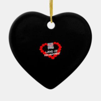 Ornamento De Cerâmica Design do coração da vela para o estado de New