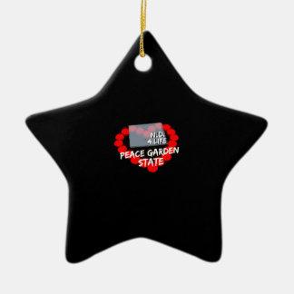 Ornamento De Cerâmica Design do coração da vela para o estado de North