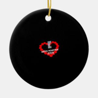Ornamento De Cerâmica Design do coração da vela para o estado de Vermont