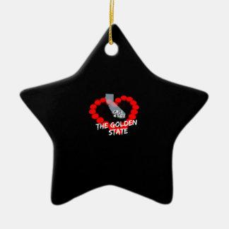 Ornamento De Cerâmica Design do coração da vela para os Estados da