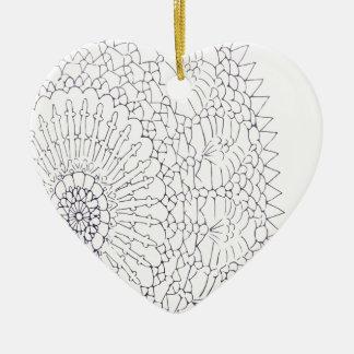 Ornamento De Cerâmica Design do Crochet