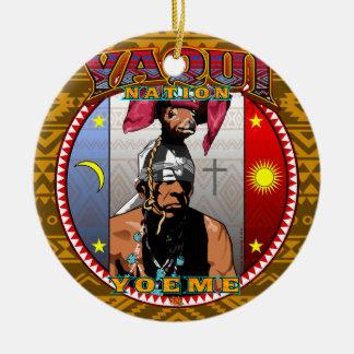 Ornamento De Cerâmica Design do dançarino dos cervos de Yaqui Yoeme