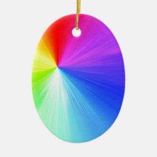 Ornamento De Cerâmica Design do espectro do arco-íris