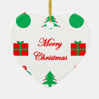Ornamento De Cerâmica Design do Feliz Natal