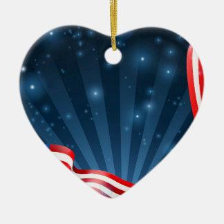 Ornamento De Cerâmica Design do fundo da bandeira americana