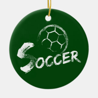 Ornamento De Cerâmica Design do futebol do estilo do Grunge