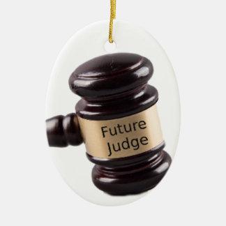 Ornamento De Cerâmica Design do Gavel para juizes e advogados de