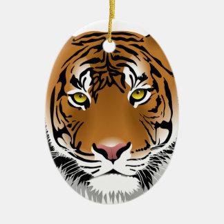 Ornamento De Cerâmica Design do impressão da cabeça do tigre