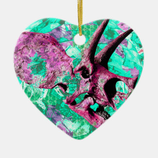 Ornamento De Cerâmica Design do impressão do crânio do dinossauro