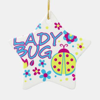 Ornamento De Cerâmica Design do inseto da senhora