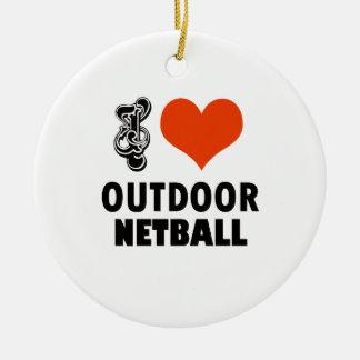 Ornamento De Cerâmica Design do Netball