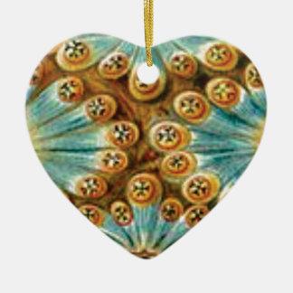 Ornamento De Cerâmica design do tan do azul das formas