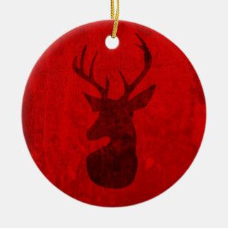 Ornamento De Cerâmica Design do veado vermelho