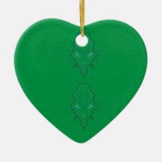 Ornamento De Cerâmica Design do verde de esmeraldas