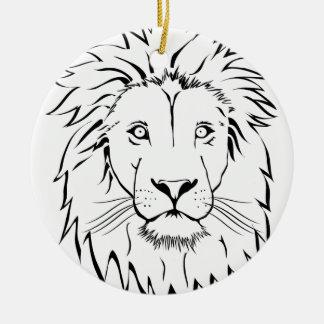 Ornamento De Cerâmica design do vetor do desenho do leão