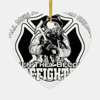 Ornamento De Cerâmica Design dos sapadores-bombeiros
