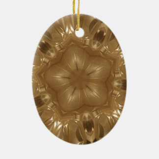Ornamento De Cerâmica Design elegante da estrela do caleidoscópio de
