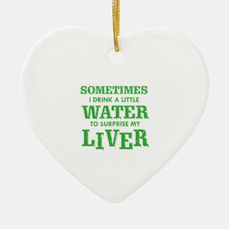 Ornamento De Cerâmica Design engraçado do fígado