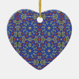 Ornamento De Cerâmica Design étnico colorido