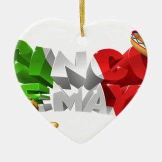 Ornamento De Cerâmica Design feliz de Cinco De Mayo