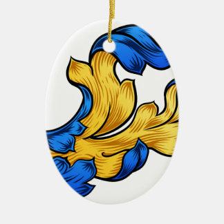 Ornamento De Cerâmica Design filigrana da heráldica do teste padrão