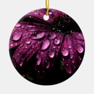 Ornamento De Cerâmica design floral da arte das gotas da chuva