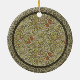 Ornamento De Cerâmica Design floral do impressão da arte do salgueiro do
