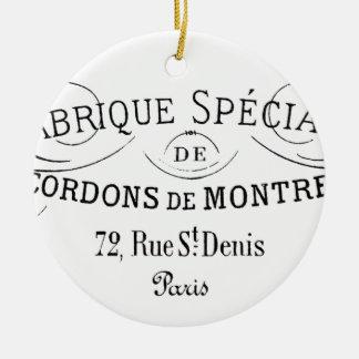 Ornamento De Cerâmica Design Francês-Fabrique da tipografia do vintage