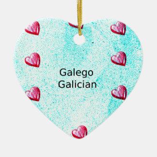 Ornamento De Cerâmica Design galego da língua (de Galego)
