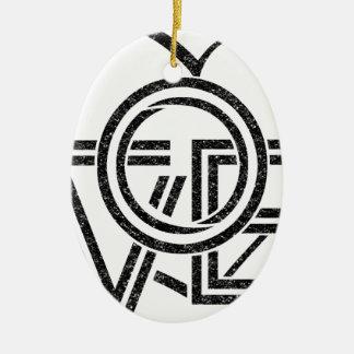 Ornamento De Cerâmica design gráfico do vintage do amor