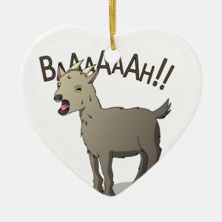 Ornamento De Cerâmica Design gritando do macarronete do Doodle da cabra