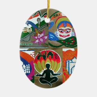 Ornamento De Cerâmica Design indiano étnico