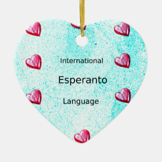 Ornamento De Cerâmica Design internacional da língua do esperanto