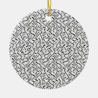 Ornamento De Cerâmica Design intrincado ondulado do teste padrão