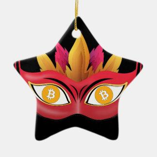Ornamento De Cerâmica Design legal da máscara do carnaval dos olhos de