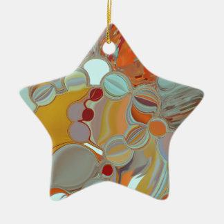 Ornamento De Cerâmica Design líquido do abstrato das bolhas