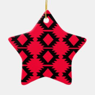 Ornamento De Cerâmica Design maia vermelho do design de Ethno