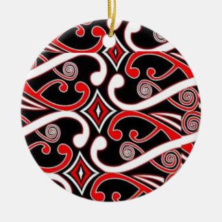 Ornamento De Cerâmica design maori 2