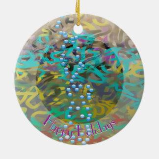 Ornamento De Cerâmica Design misturado w do abstrato da massa seu texto