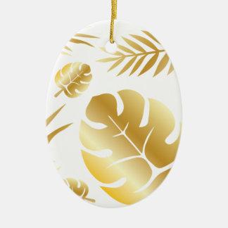 Ornamento De Cerâmica Design moderno elegante do teste padrão das folhas