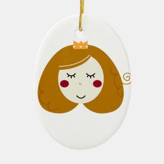 Ornamento De Cerâmica Design pequeno da princesa no branco