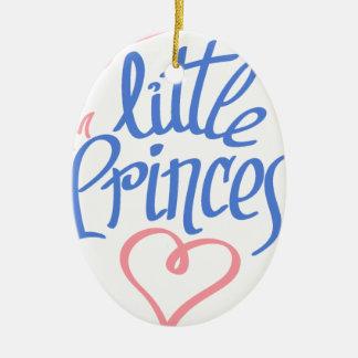 Ornamento De Cerâmica design pequeno do coração da princesa