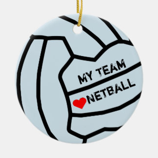 Ornamento De Cerâmica Design personalizado da bola do Netball