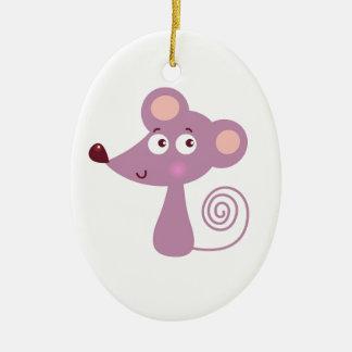 Ornamento De Cerâmica Design/rato dos miúdos no branco